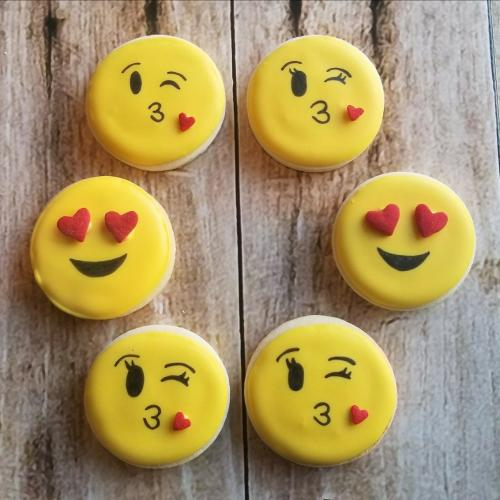 Emoji Valentine's Day Sugar Cookies