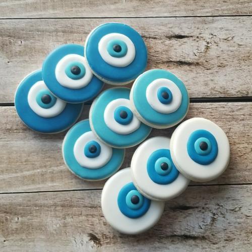 Evil Eye Sugar Cookies