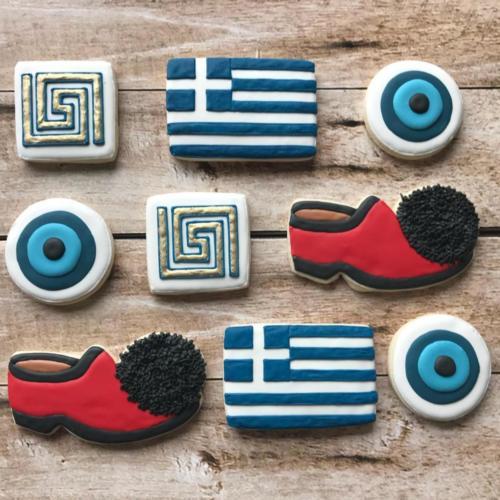 Greek-Themed Sugar Cookies